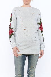 Emory Park Grey Distressed Tunic Sweater - Product Mini Image