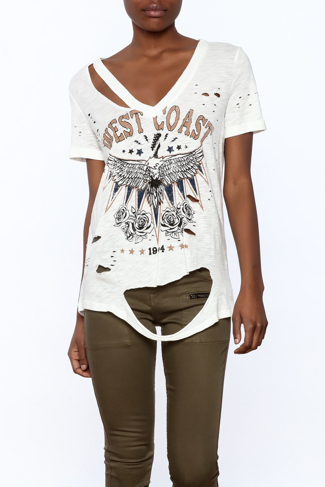 Emory Park Distressed Print Tee From Manhattan By Dor L