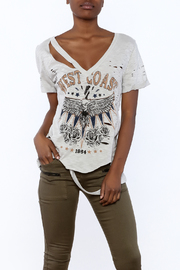 Shoptiques Product: Distressed Print Tee