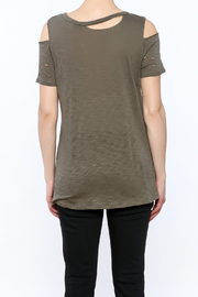 Emory Park Olive Distressed Graphic Tee - Back cropped