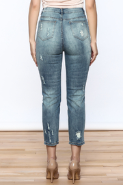 Emory Park Embroidered Denim Jeans - Back cropped