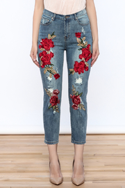 Emory Park Embroidered Denim Jeans - Side cropped