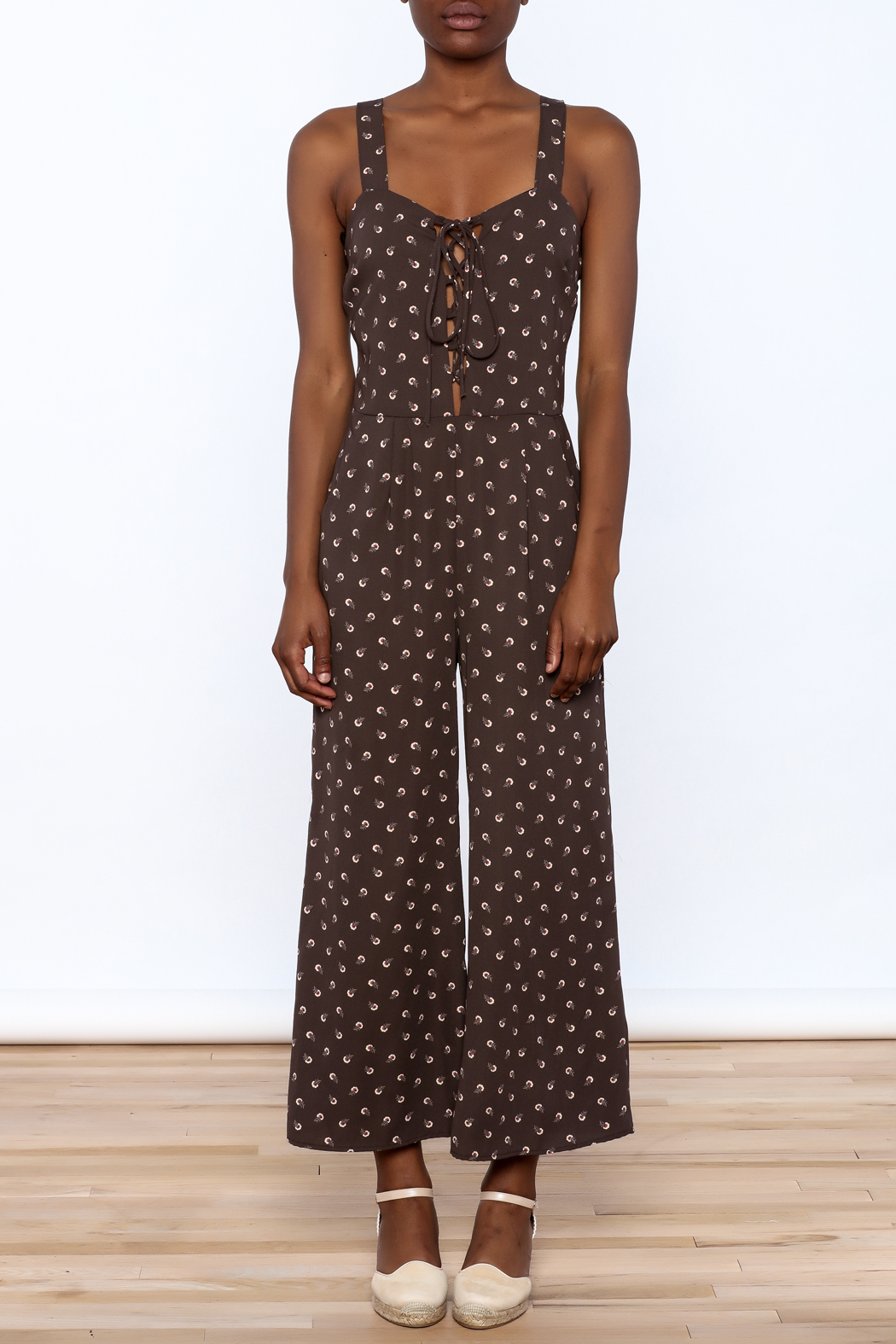 Emory Park Flower Power Jumpsuit - Front Cropped Image