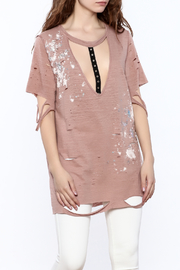 Emory Park Old Rose Tunic Top - Product Mini Image