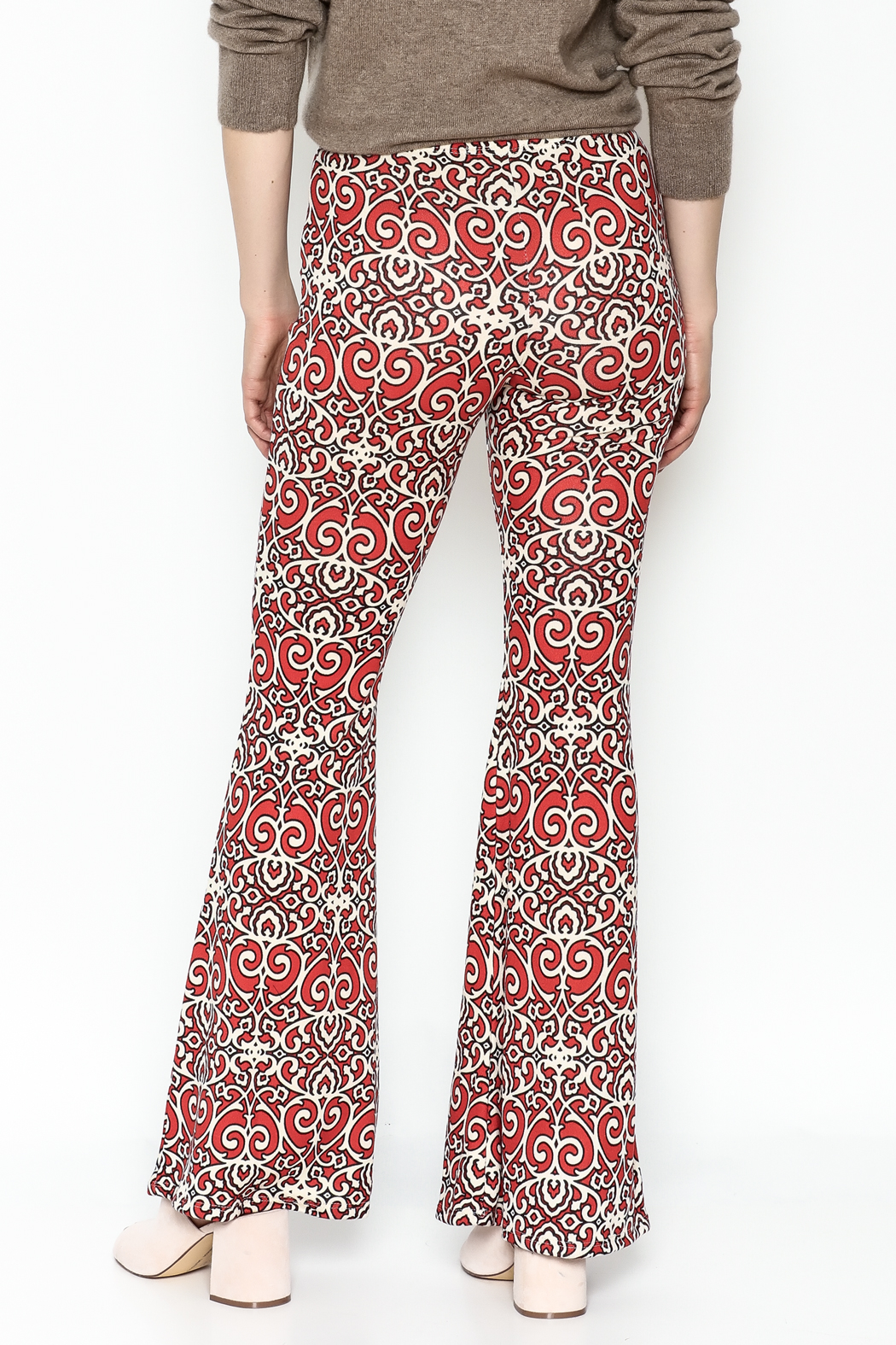 Emory Park Red Print Pants - Back Cropped Image