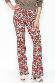 Emory Park Red Print Pants - Front cropped