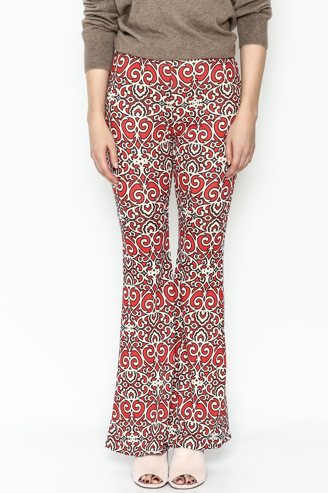 Emory Park Red Print Pants - Front Full Image