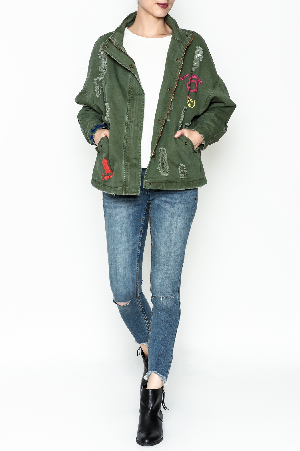 Emory Park Ripped Military Jacket - Side Cropped Image