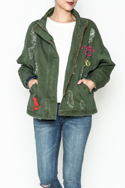 Emory Park Ripped Military Jacket - Product Mini Image