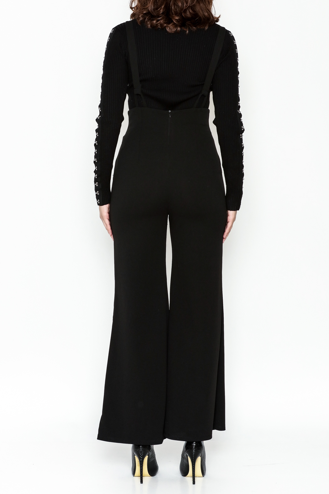 Emory Park Wide Leg Overall - Back Cropped Image