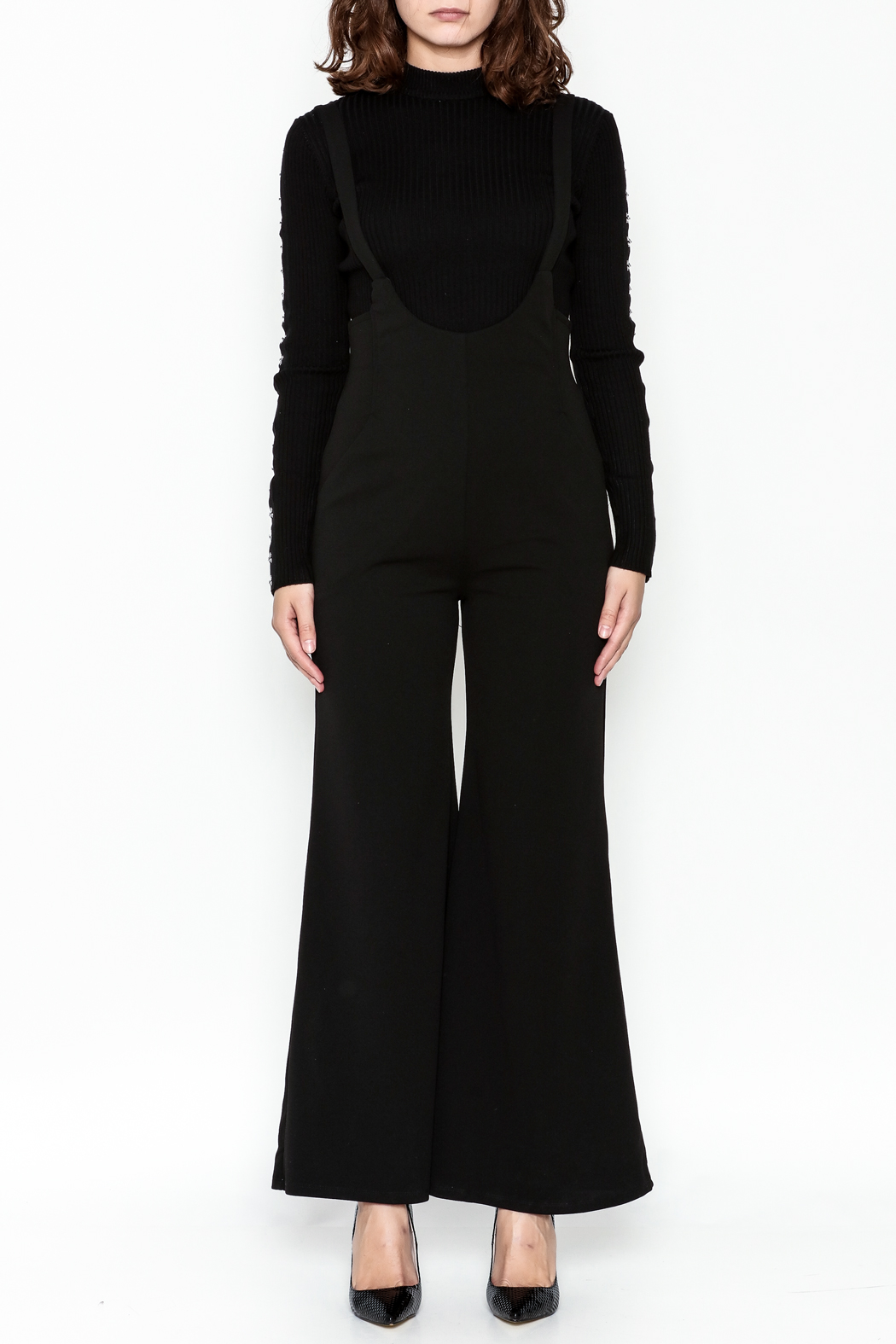 Emory Park Wide Leg Overall - Front Full Image