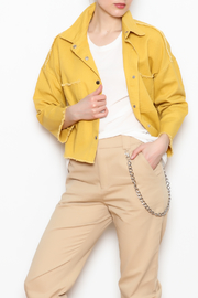 Emory Park Yellow Denim Jacket - Product Mini Image