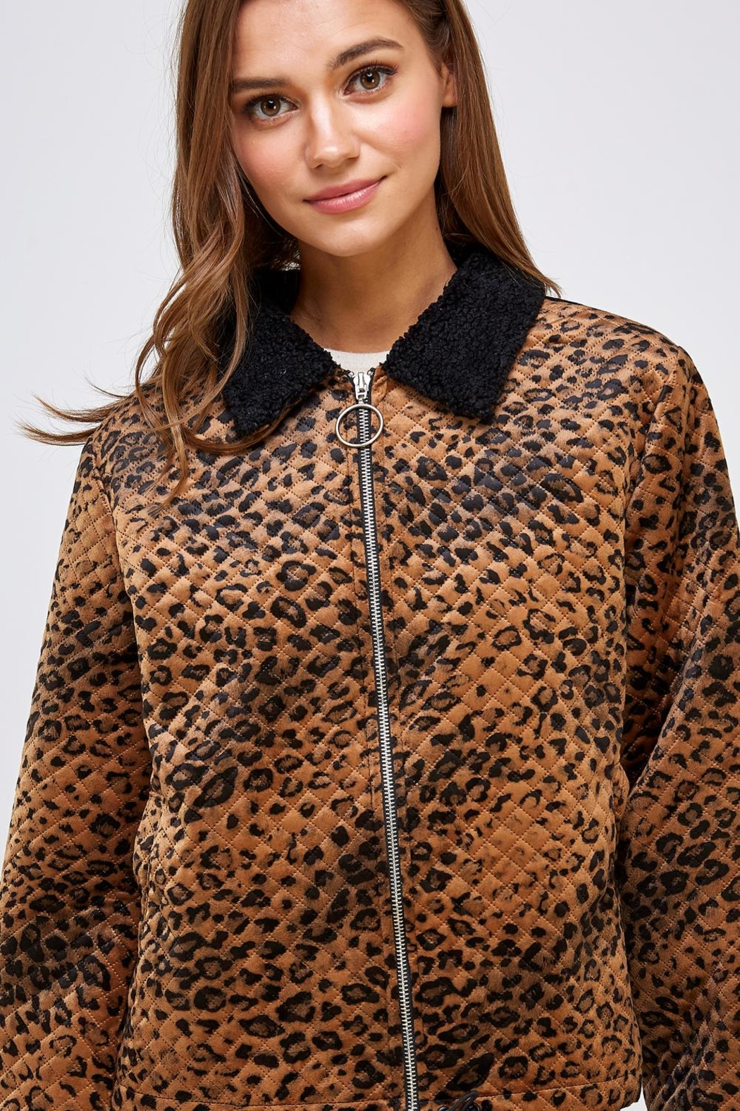Emory Park Animal Quilted Jacket - Side Cropped Image