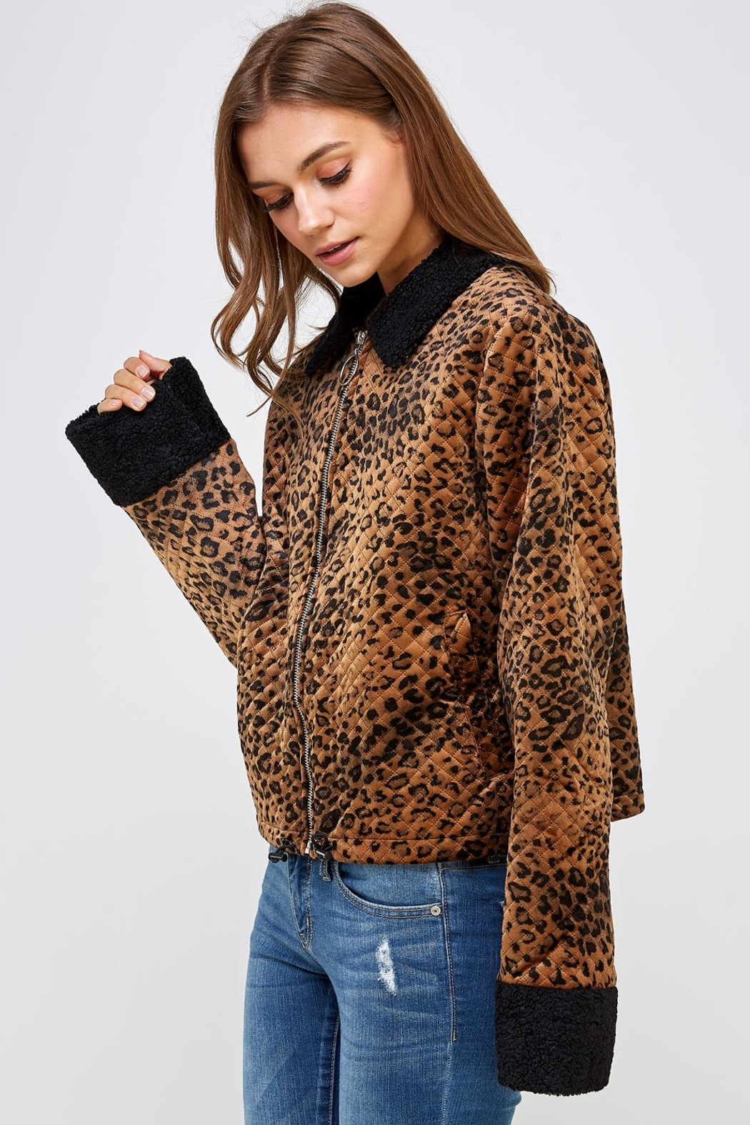 Emory Park Animal Quilted Jacket - Front Full Image