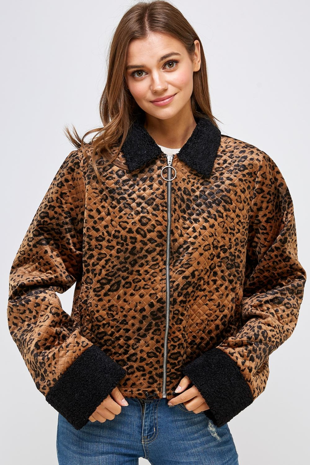 Emory Park Animal Quilted Jacket - Main Image