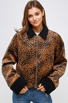 Shoptiques Product: Animal Quilted Jacket