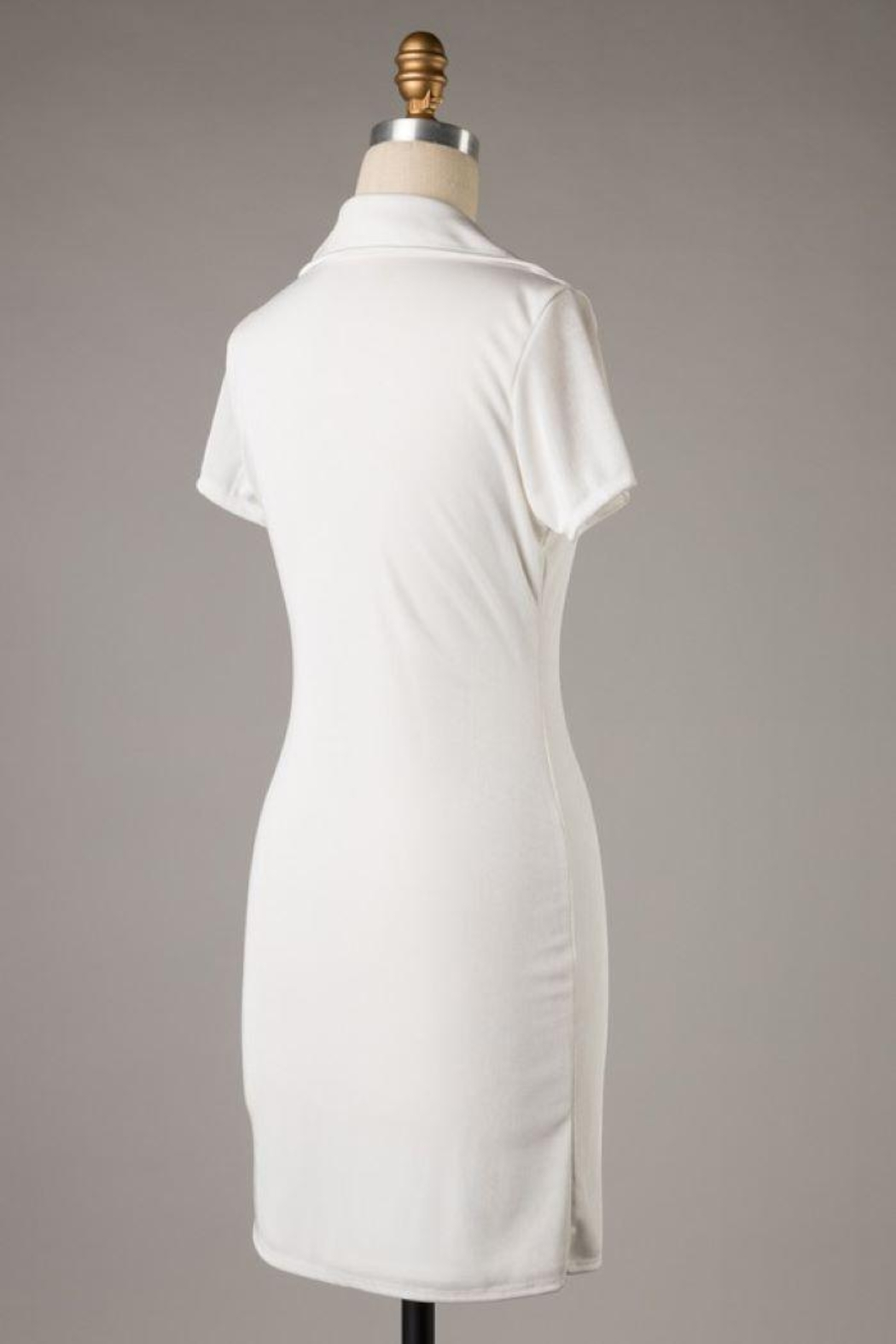 Emory Park Asymmetrical Button Body Con Dress - Front Full Image