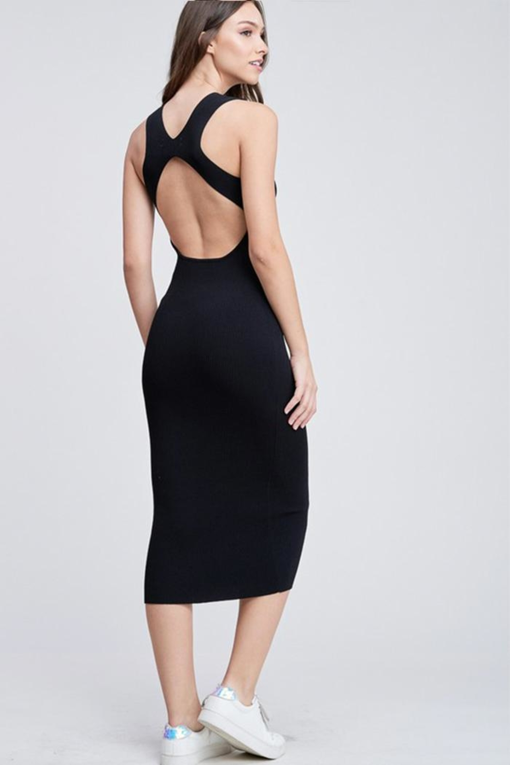 Emory Park Back Cutout Dress - Back Cropped Image