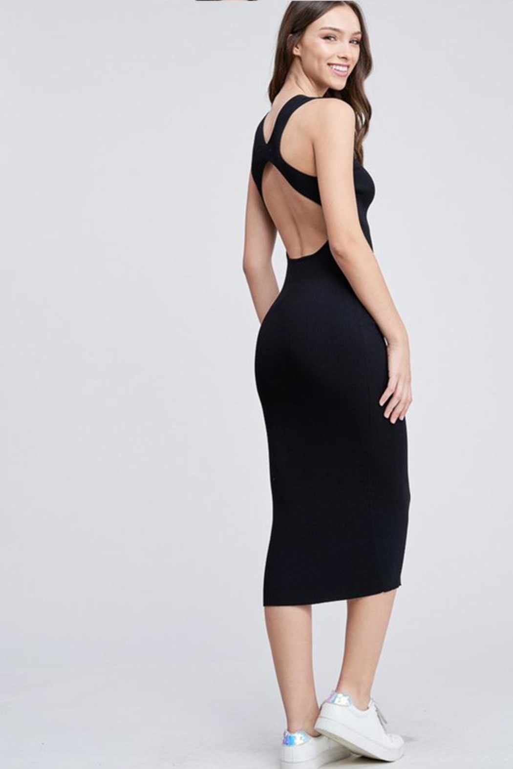 Emory Park Back Cutout Dress - Side Cropped Image