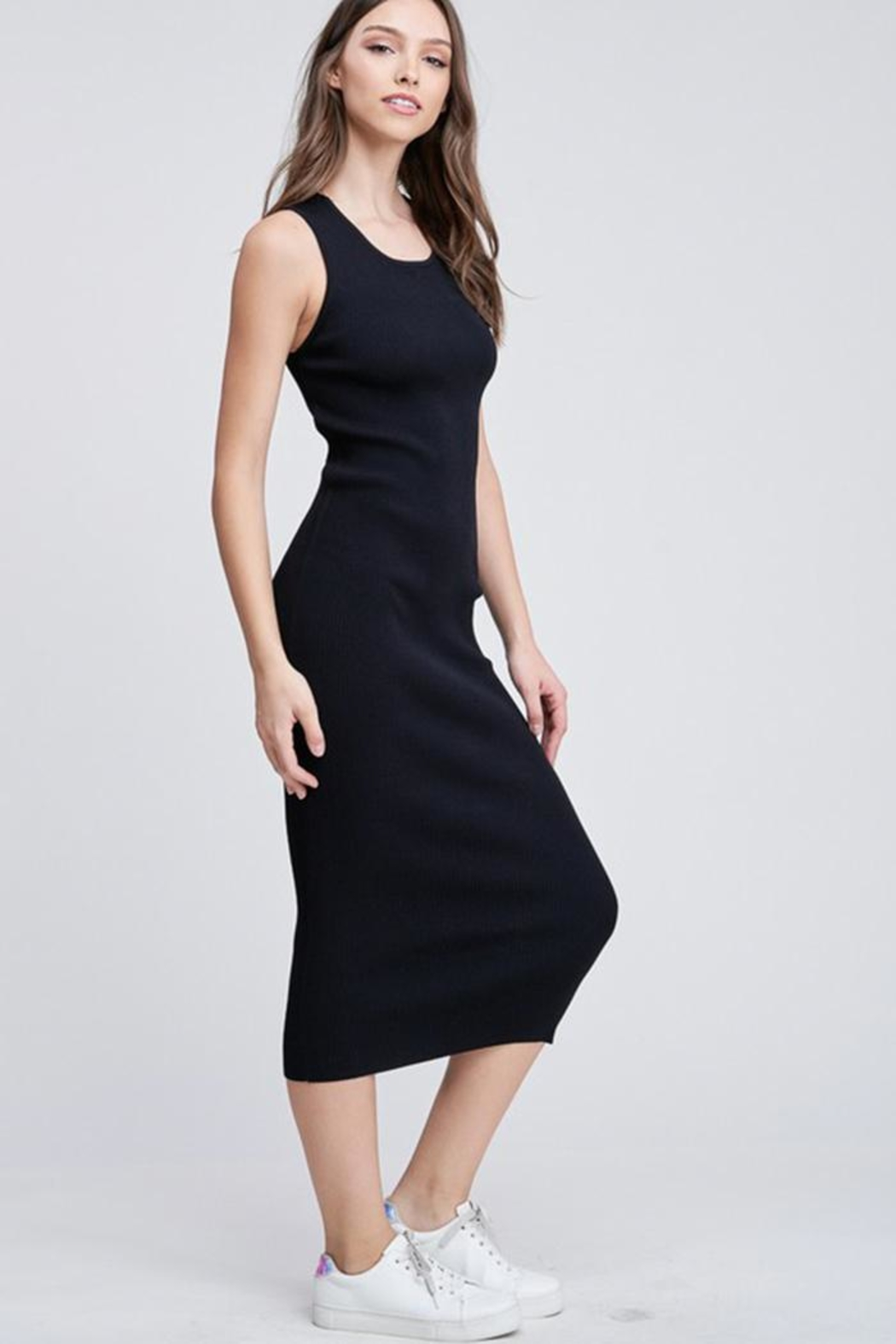 Emory Park Back Cutout Dress - Front Full Image