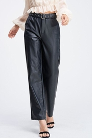 Emory Park Belted Leather Pants - Product Mini Image