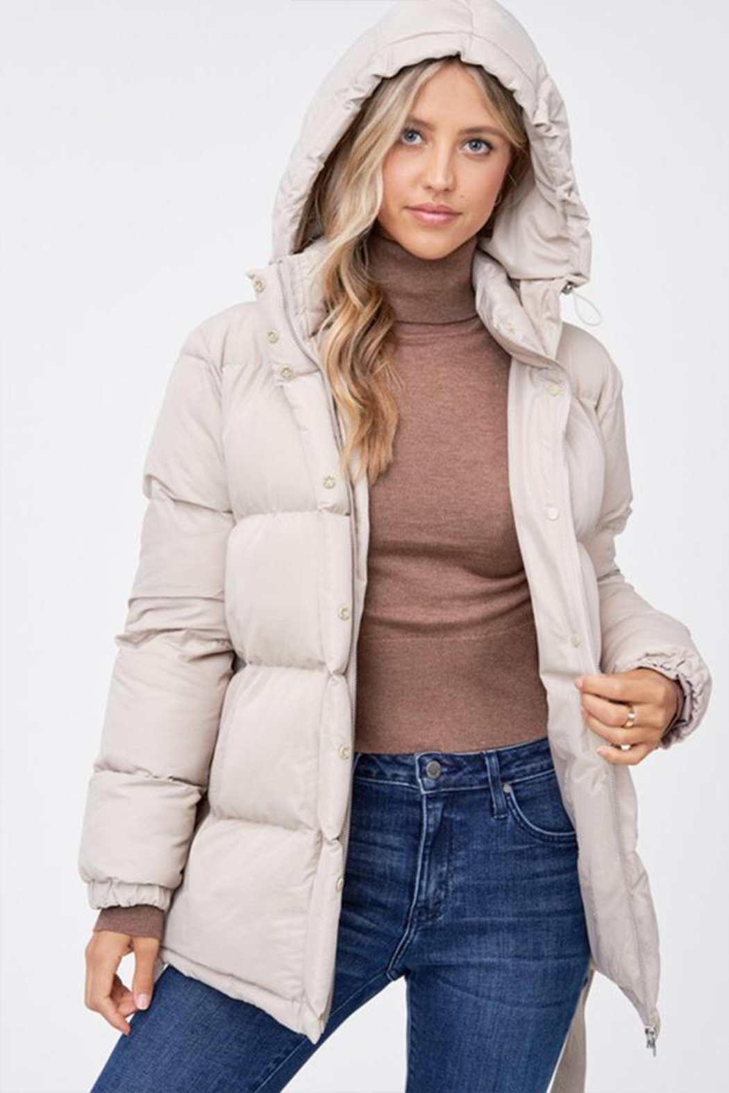 Emory Park Belted Puffer Jacket - Main Image