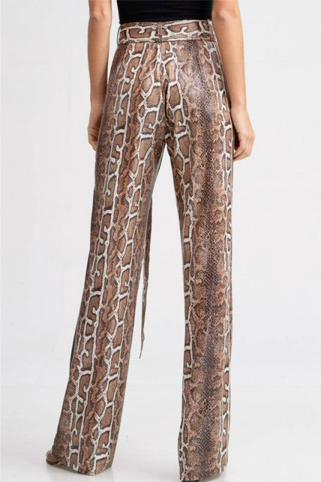 Emory Park Belted Python Pant - Side Cropped Image