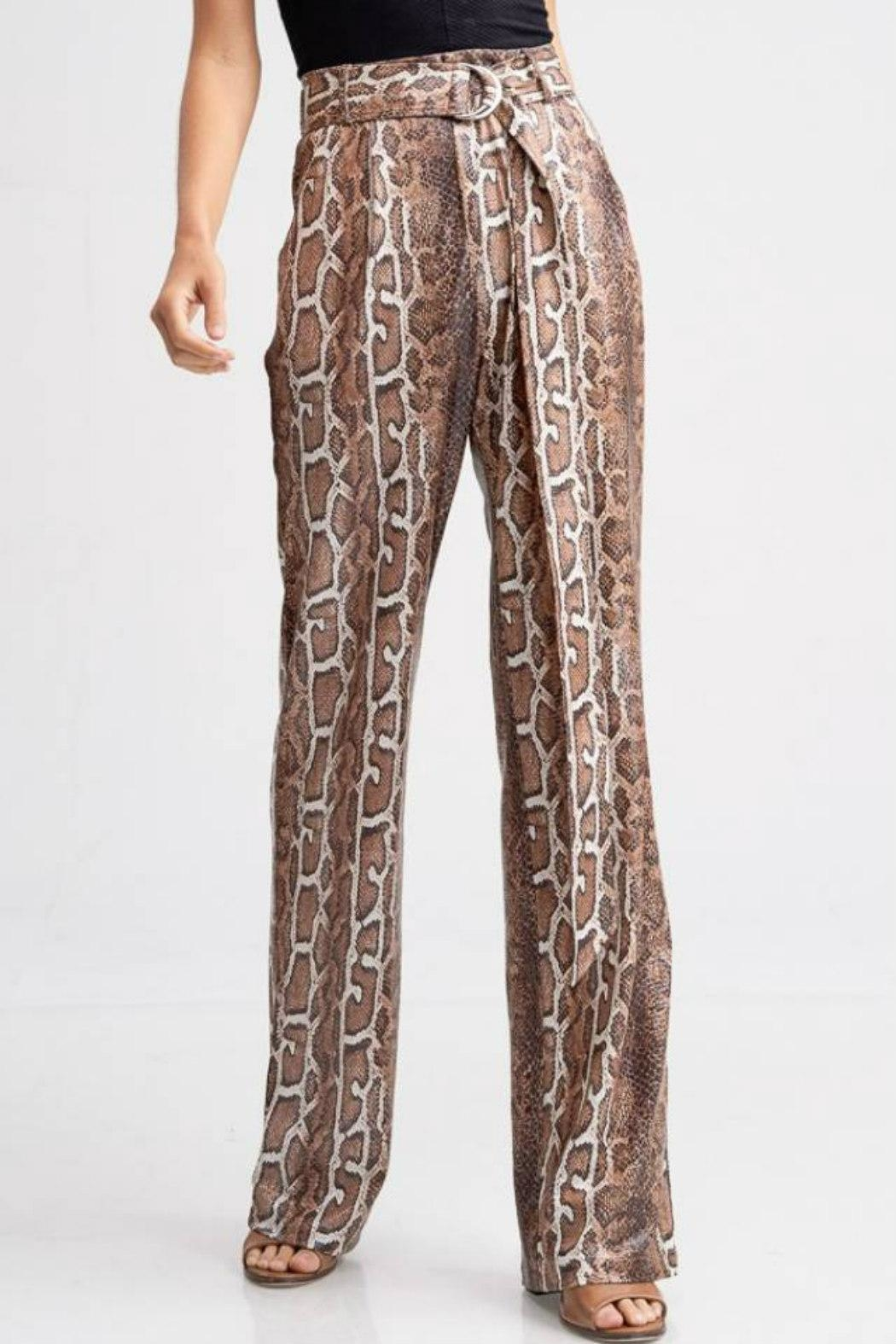 Emory Park Belted Python Pant - Front Full Image
