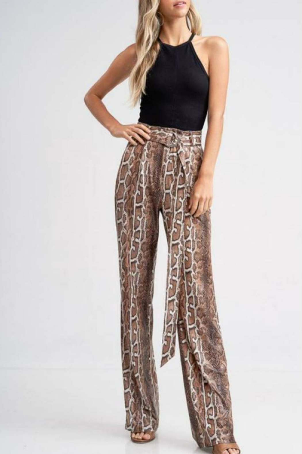 Emory Park Belted Python Pant - Main Image