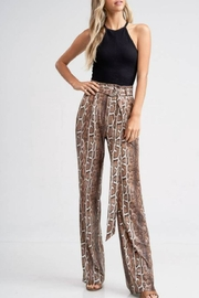 Emory Park Belted Python Pant - Front cropped