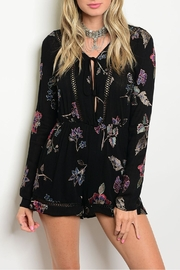 Emory Park Floral Embroidered Romper - Product Mini Image