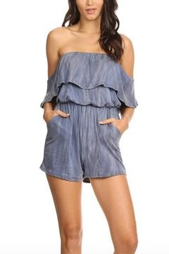 Shoptiques Product: Blue Offshoulder Romper