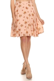 Emory Park Peach Floral Skirt - Front cropped