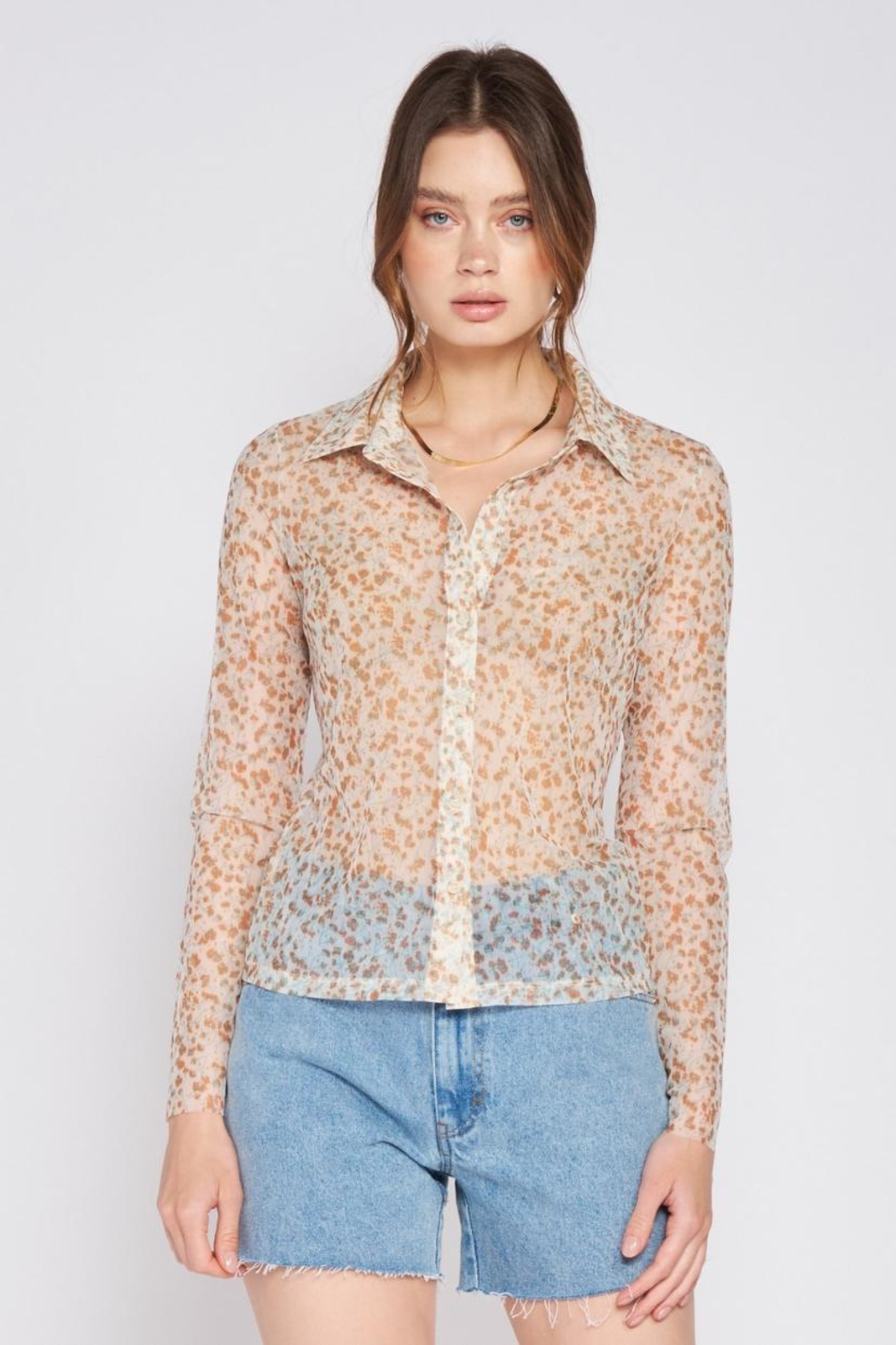 Emory Park Button-Down Floral Top - Main Image