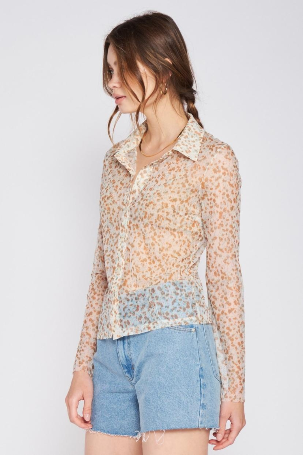 Emory Park Button-Down Floral Top - Front Full Image
