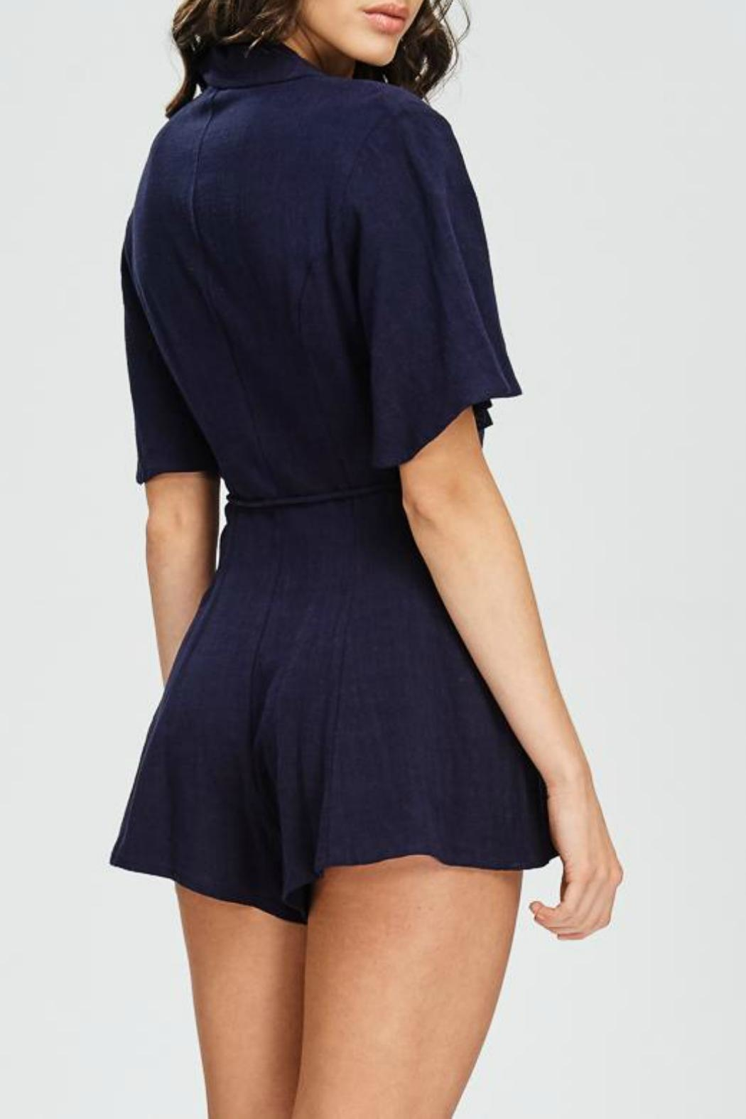 Emory Park Button Down Romper - Side Cropped Image