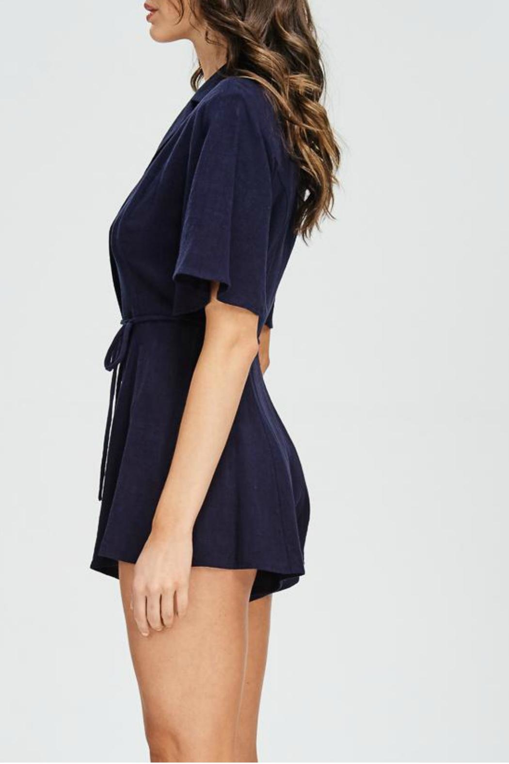 Emory Park Button Down Romper - Front Full Image