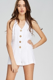 Emory Park Button Front Romper - Back cropped