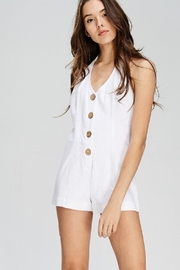 Emory Park Button Front Romper - Product Mini Image