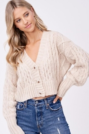 Emory Park Cable Sweater Cardigan - Product Mini Image