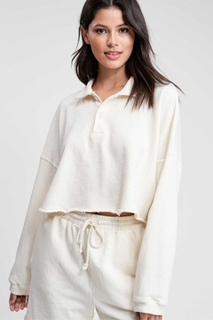 Emory Park Collared Sweatshirt Top - Product List Image