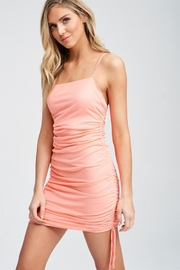 Emory Park Coral Shirring Dress - Front full body