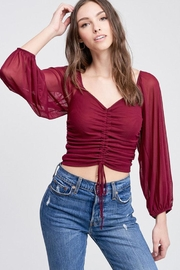 Emory Park Crop Shirred Top - Product Mini Image