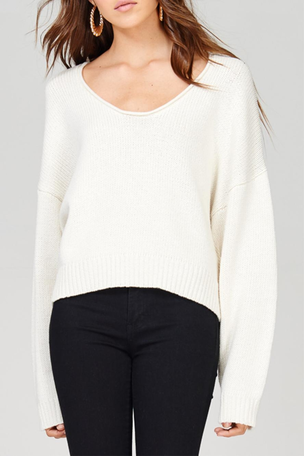 Emory Park Crop Sweater - Front Cropped Image