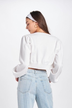 Emory Park Cropped Bubble Sleeve Cardigan - Alternate List Image