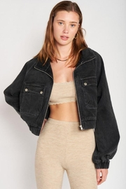 Emory Park Cropped Oversize Jean Jacket - Product Mini Image