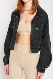 Emory Park Cropped Oversize Jean Jacket - Back cropped