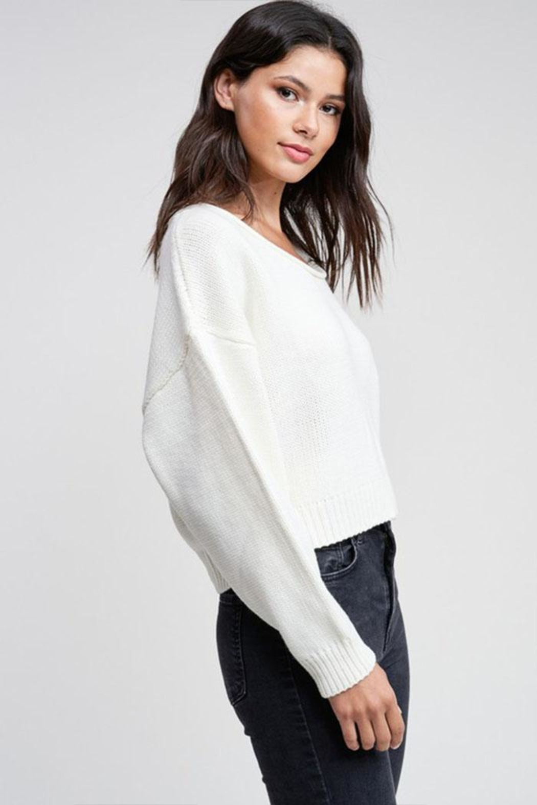 Emory Park Cropped Pullover Sweater - Front Full Image