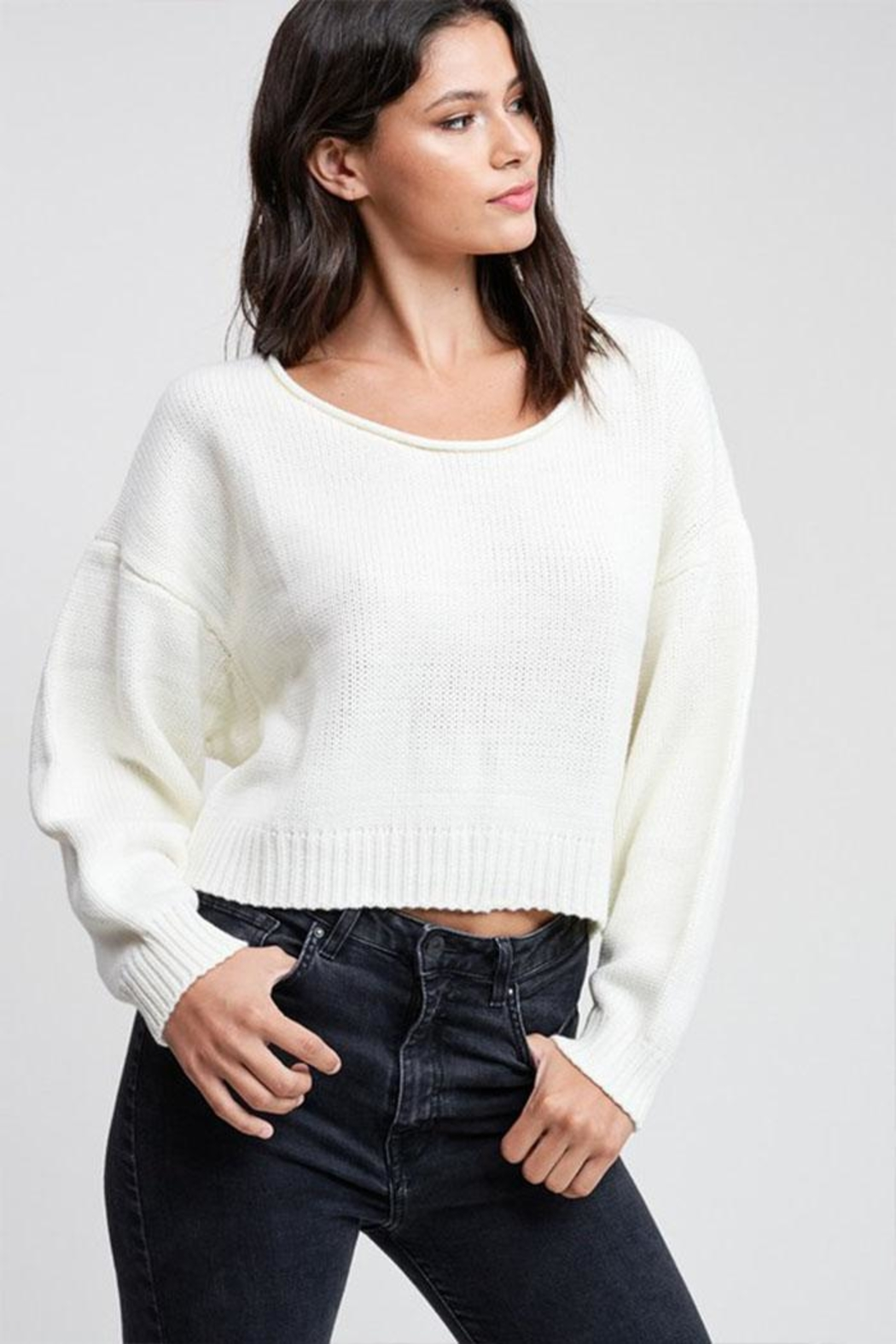 Emory Park Cropped Pullover Sweater - Main Image