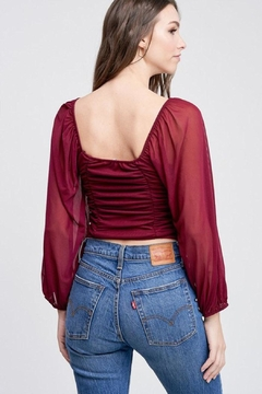 Emory Park Cropped Shirring Top - Alternate List Image